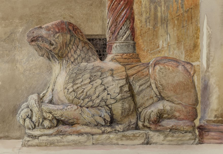 Gryphon bearing the north Shaft of the west Entrance of the Duomo, Verona