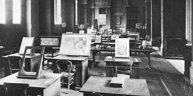 Ruskin Drawing School in 1900