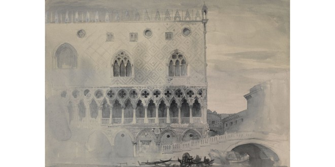 Ruskin, John.  The Exterior of the Ducal Palace, Venice