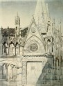 Drawing from a Photograph of Part of Santa Maria della Spina, Pisa
