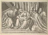 "Engraving of Titian's ""Virgin and Child with Saints Andrew and Tiziano"""