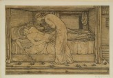 The Story of Cupid and Psyche: Psyche spying (Burne-Jones, Edward - The Story of Cupid and Psyche: Psyche spying)