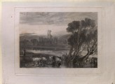 "Mezzotint of Turner's ""Kirkstall Abbey, on the River Aire"""