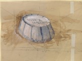 Recto: Perspective Study of an inverted oval Bowl. Verso: Perspective Study of a circular Tub with two vertical Lugs (Ruskin, John - Perspective Study of an inverted oval Bowl)