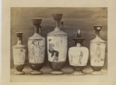 A Photograph of five Greek Ceramics