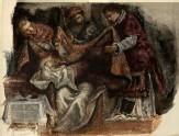 """Study from Tintoretto's """"Circumcision"""" in the Scuola Grande di San Rocco"""