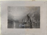 "Touched proof Mezzotint of Turner's ""Stangate Creek, on the River Medway"""