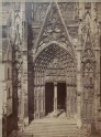 Photograph of the south Transept of Rouen Cathedral, before its Restoration
