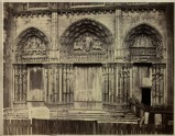 Photograph of the western Porches of Chartres Cathedral