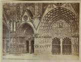 Photograph of the northern and central Porches of the west Front of Bourges Cathedral