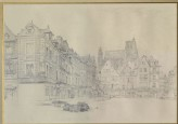Study for Detail of the Market-Place, Abbeville (Ruskin, John - Study for Detail of the Market-Place, Abbeville)