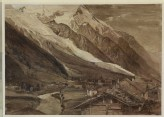 Recto: The Glacier des Bossons, Chamonix. Verso: A Sketch of the Glacier des Bossons, Chamonix