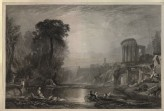 "Engraving of Turner's ""Landscape: Composition of Tivoli"""