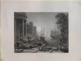 """Engraving of Claude's """"Seaport with the Embarkation of Saint Ursula"""""""