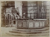 Photograph of Nicola Pisano's Pulpit and Guido Bigarelli's Font in the Baptistery, Pisa