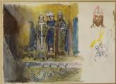 Drawing of Mosaics in the Choir of Saint Mark's Basilica, Venice