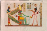 Engraving of a Painting of Ramesses III adoring Isis and Ptah-Sokar, from Ramesses' Tomb at Biban el-Moluk