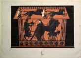 Print of the Decoration on a black-figure Greek Ceramic, showing the Resurrection of Semele
