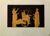 Print of the Decoration on a Greek Hydria, showing Triptolemus, Demeter and Persephone
