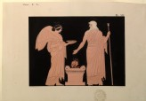 Print of the Decoration on a Greek Amphora, showing Zeus and Nike
