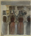 Study of the Marble Inlaying on the Front of the Casa Loredan, Venice