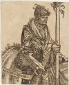 "A mounted Man holding the Staff of a Banner (cut from a Plate in ""The Triumph of Maximilian"")"