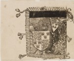 "A heraldic Banner (cut from a Plate in ""The Triumph of Maximilian"")"