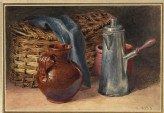Still Life with earthenware Pitcher, Coffee Pot and Basket