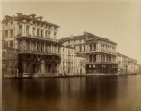 Photograph of the Palazzo Corner della Regina and the Palazzo Pesaro on the Grand Canal, Venice