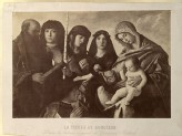 "Photograph of Giovanni Bellini's ""Virgin and Child with four Saints and a Donor"""