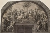 "Engraving of Raphael's Fresco of ""Parnassus"" in the Stanza della Segnatura"