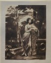 Recto: a Lady Leaning on a Pedestal. Verso: figure studies