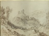 "Photograph of Ruskin's Drawing of Turner's ""Okehampton, Devonshire"""