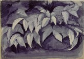 Recto: A Study in Violet Carmine of Bay Leaves
