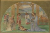 "Drawing of Perugino's fresco of ""The Adoration of the Shepherds"""